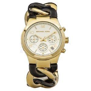 Michael Kors Runway Twisted Chain Bracelet Watch